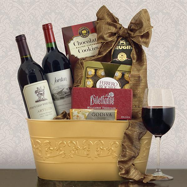 Jordan Baby Gift Baskets : Stag s leap and jordan cabernet red wine duo capalbos gift