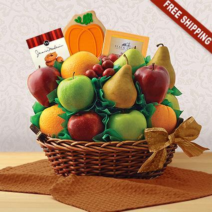 Autumn Garden Fresh Fruit Gift Basket