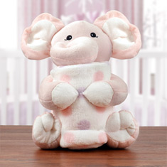 Baby's First Blanket & Elephant Gift Set