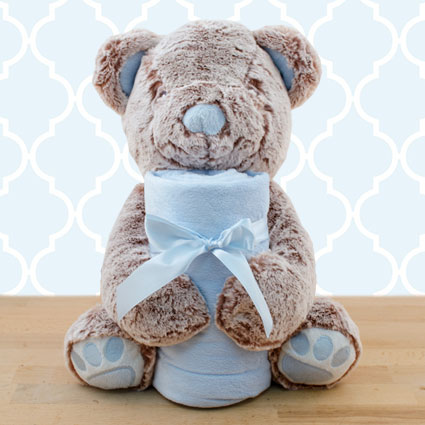 Baby's First Blanket & Bear Gift Set