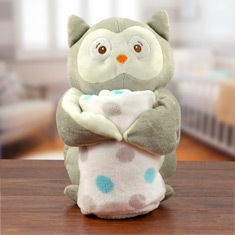 Baby's First Blanket & Owl Gift Set