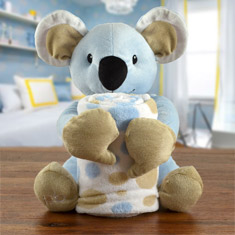 Baby's First Blanket & Koala Bear Gift Set
