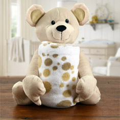 Baby's First Blanket & Teddy Bear Gift Set