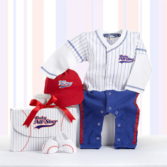 Baby Baseball All-Star Layette Set