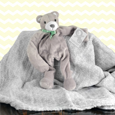 Baby Bear Pacifier Holder & Swaddle Gift Set