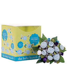 Baby Bunch Blue Clothing Medium Bouquet Gift Set
