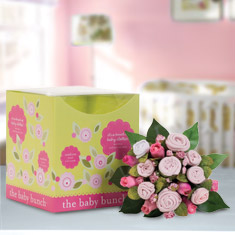 Baby Bunch Pink Clothing Medium Bouquet Gift Set