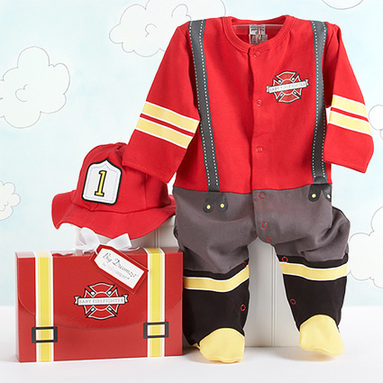 Baby Firefighter Layette Set