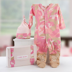 Baby Girl Camo Layette Set