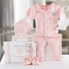 Baby Girl M.D. Layette Set
