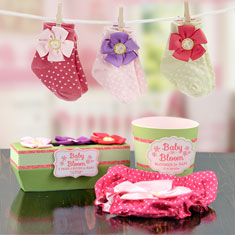 Baby in Bloom Flower Bloomer & Socks Gift Set