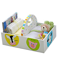 Barnyard Bath & Diaper Caddy