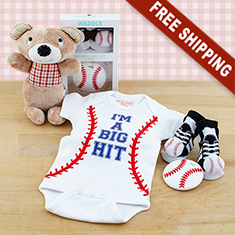 Baseball Baby Gift Set