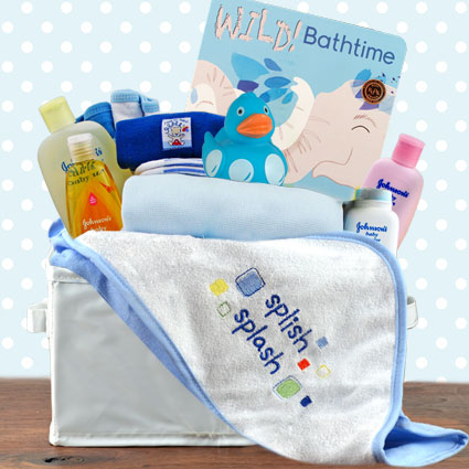 Bath Time Boy Gift Basket
