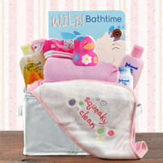 Bath Time Girl Gift Basket