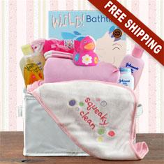 Bath Time Girl Gift Basket