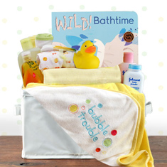 Bath Time Neutral Gift Basket