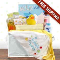 Bath Time Neutral Gift Basket