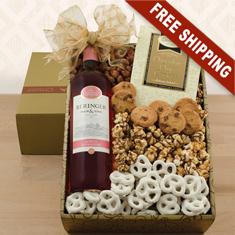 Beringer White Zinfandel & Snax Gift Box