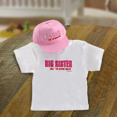Big Sisters Rule Shirt & Cap Gift Set