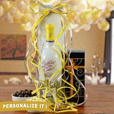 Birthday Cake White Wine Gift Basket