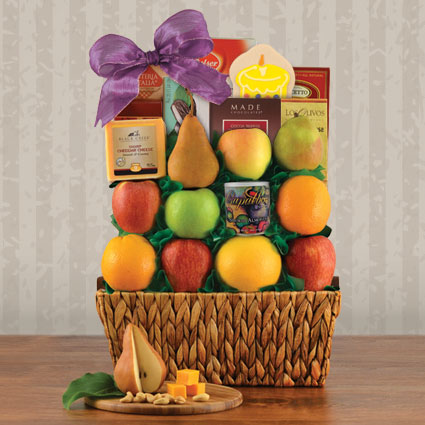 Birthday Greetings Fruit Gift Basket