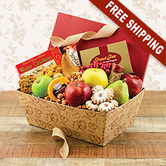 Bon Appétit Fresh Fruit & Snacks Gift Box