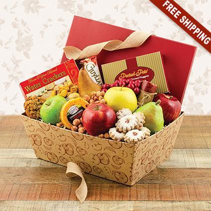 Bon Appétit Fresh Fruit & Snacks Gift Box