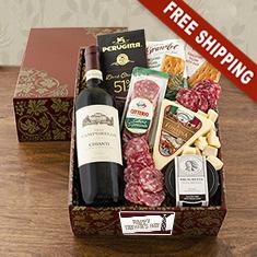 Buon Padre Italian Vino & Antipasto Gift Box