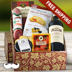 Buona Vita Italian Vino & Antipasto Gift Box