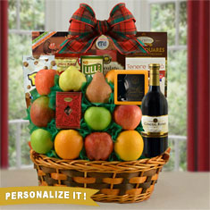 CEO Merlot Wine Gift Basket