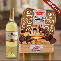 California White Wine & Belgian Chocolate Cookie Gift Tin