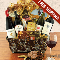 California Wine Quartet Gift Basket