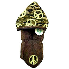 Camo Peace Hooded Towel & Washcloth Gift Set