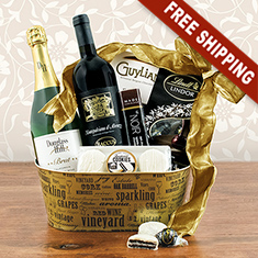 Celebrate Wine Gift Basket