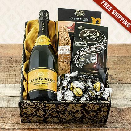 Champagne, Truffles & Chocolates Celebration Gift Box
