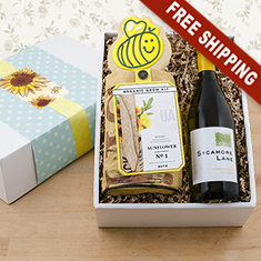 Chardonnay & Sunflowers Gardening Kit
