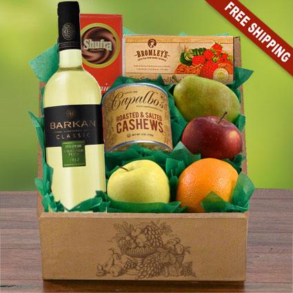 Sauv Blanc, Fruit & Snax Gift Box