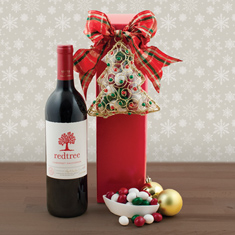 Christmas Cab Sauv & Ornament Gift Set