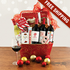 Christmas Wonder Wine Quartet Gift Basket