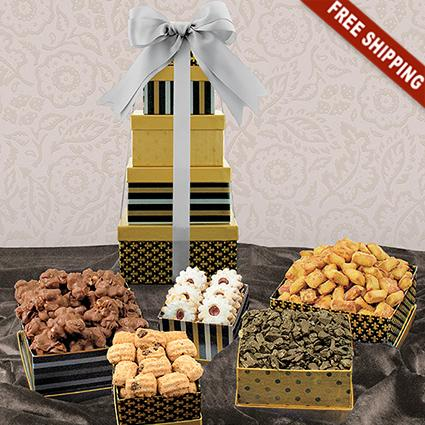 Classic 5-Box Snack Tower Gift Set