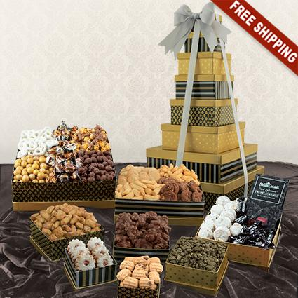 Classic 8-Box Snack Tower Gift Set