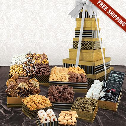 Classic 9-Box Snack Tower Gift Set