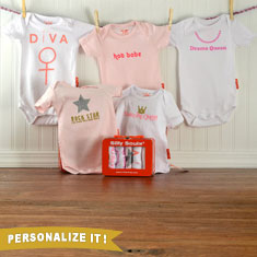 Cool Baby Girl Bodysuit Gift Set