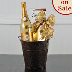 Cristal Champagne & Handmade Truffles Gift Basket