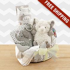 Cuddly Safari Mini Baby Bassinet Gift Set
