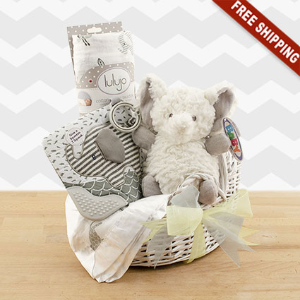 Cuddly Safari Mini Baby Bassinet Gift Set