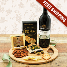 Cutting Edge Wine & Cheese Board Gift Basket