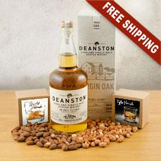 Deanston Single Malt Scotch & Snacks Gift Basket