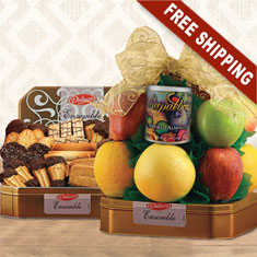 Delacre Belgian Chocolate Cookies N' Fruit Basket